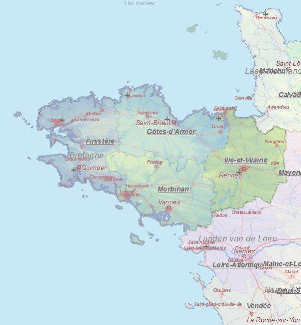 Karte Von Rennes Frankreich Landkarte Und Plane